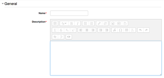 Moodle assignment visual editor