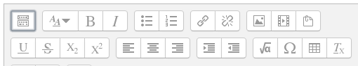 Moodle visual editor styles buttons