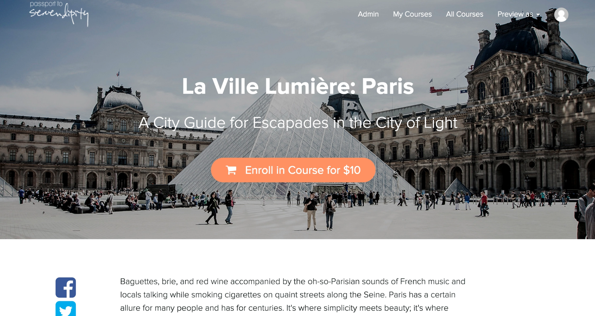 Blog Landing Page Selling Courses Example
