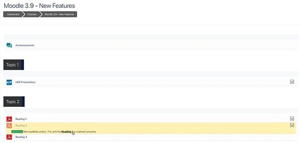 image moodle 3.9 activity completion (learner's progress) screenshot