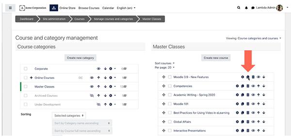 image moodle 3.9 course copy feature screenshot