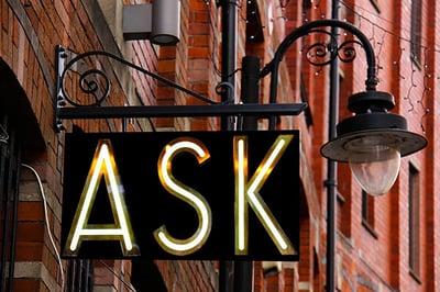 """image """"ask"""" signage"""