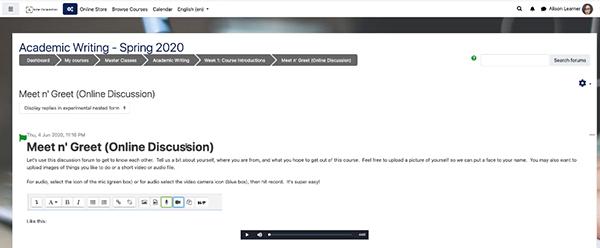 image moodle forum lms screenshot