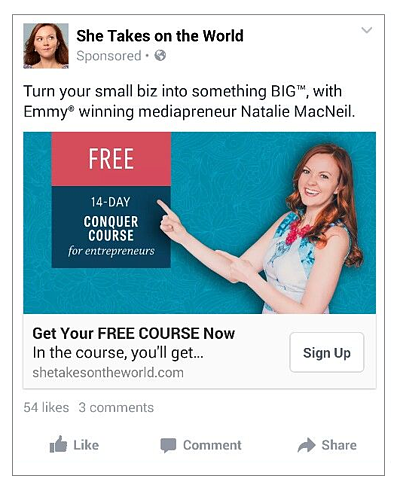 Blog Social Media Ad Example