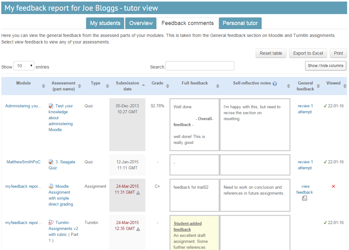 Blog example of a Moodle plugin for collecting and presenting user feedback