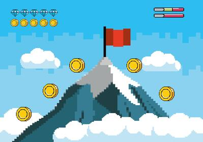 Blog gamification - game screenshot example