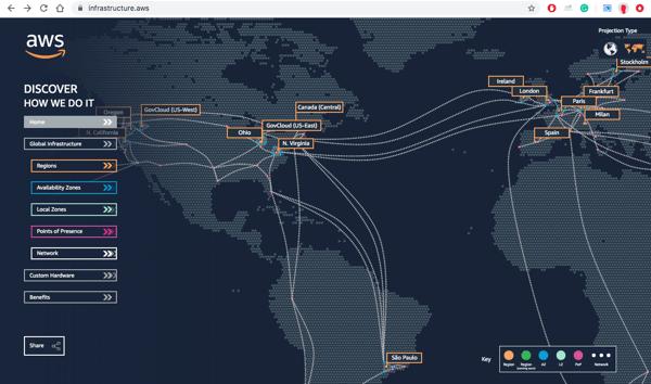 Blog interactive map AWS