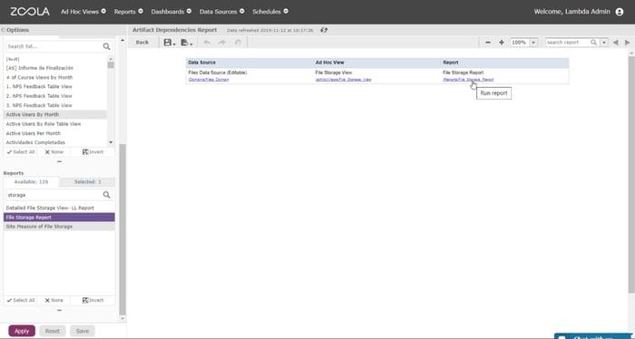 Blog screenshot lambda analytics zoola artifact dependencies report