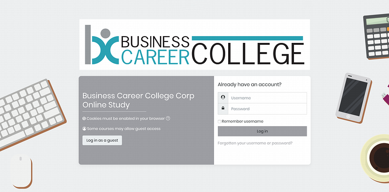 Blog-Case-Study-Business-Career-College-Login-Page