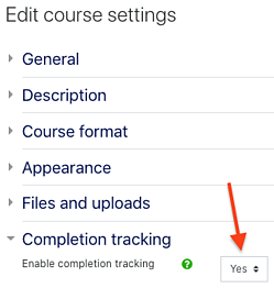 course completion tracking