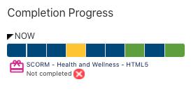 Completion Progress block