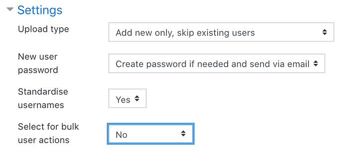 upload user preview settings