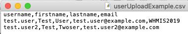 user upload csv required fields