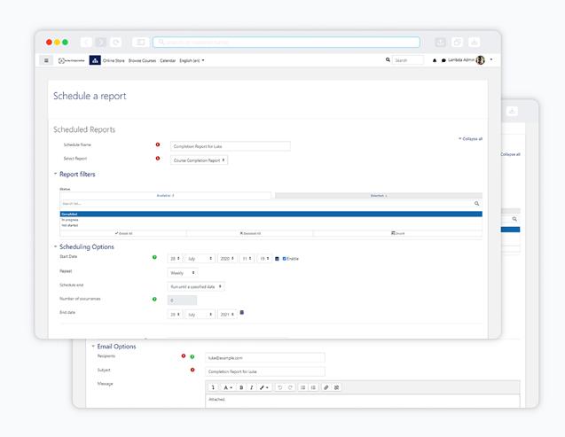 image lambda analytics scheduler and automation settings screenshot