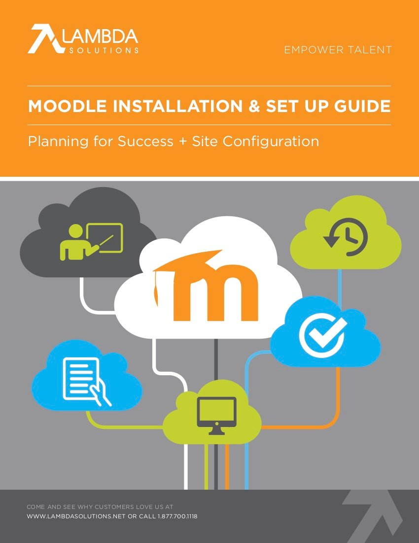 image moodle Installation set up guide cover