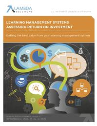 LMS assessing ROI