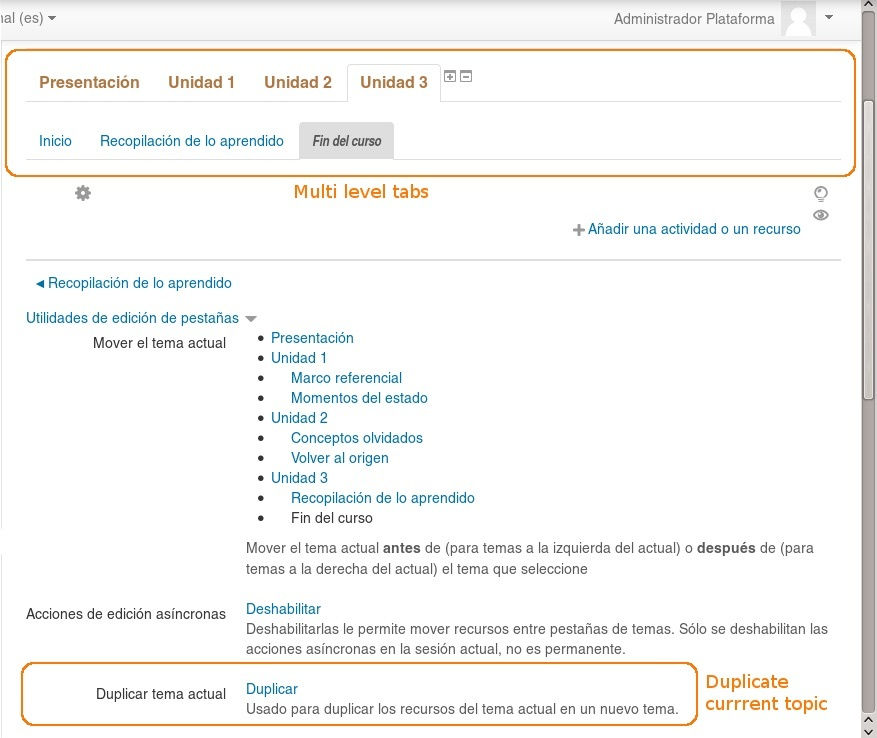 image Moodle Plugin - Onetopic screenshot