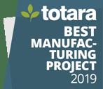 image logo badge totara awards best manufacturing project 2019