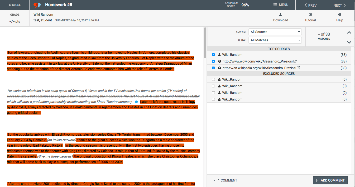 image Moodle Plugin - Vericite screenshot