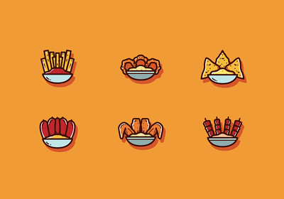 image conceptual icons showing what microlearning as bite-size like fries nachos