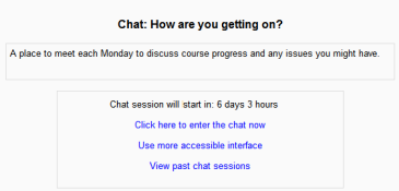 blog self paced learning - moodle chat