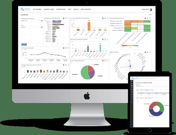 blog  screenshots of lambda analytics dashboards for learning evaluation