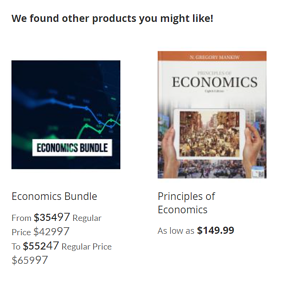 image screenshot example of upsell with bundles