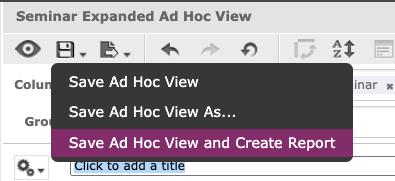 image screenshot save ad hoc view in lambda analytics