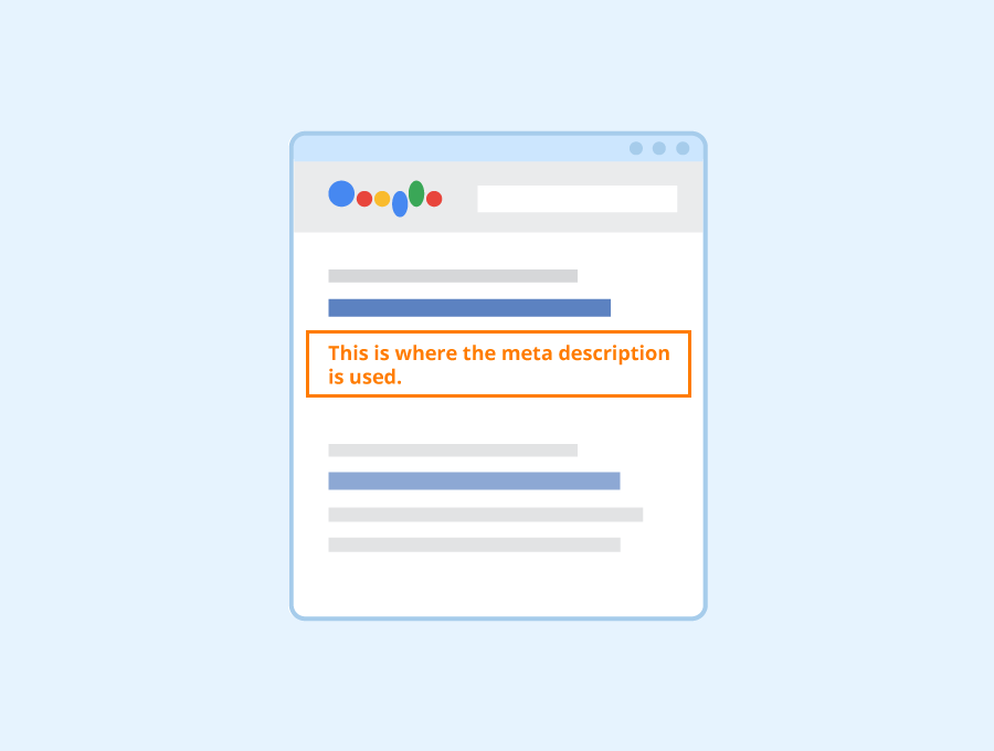 your meta description briefly describes what your page is all about — in this case, it would describe what your course offers