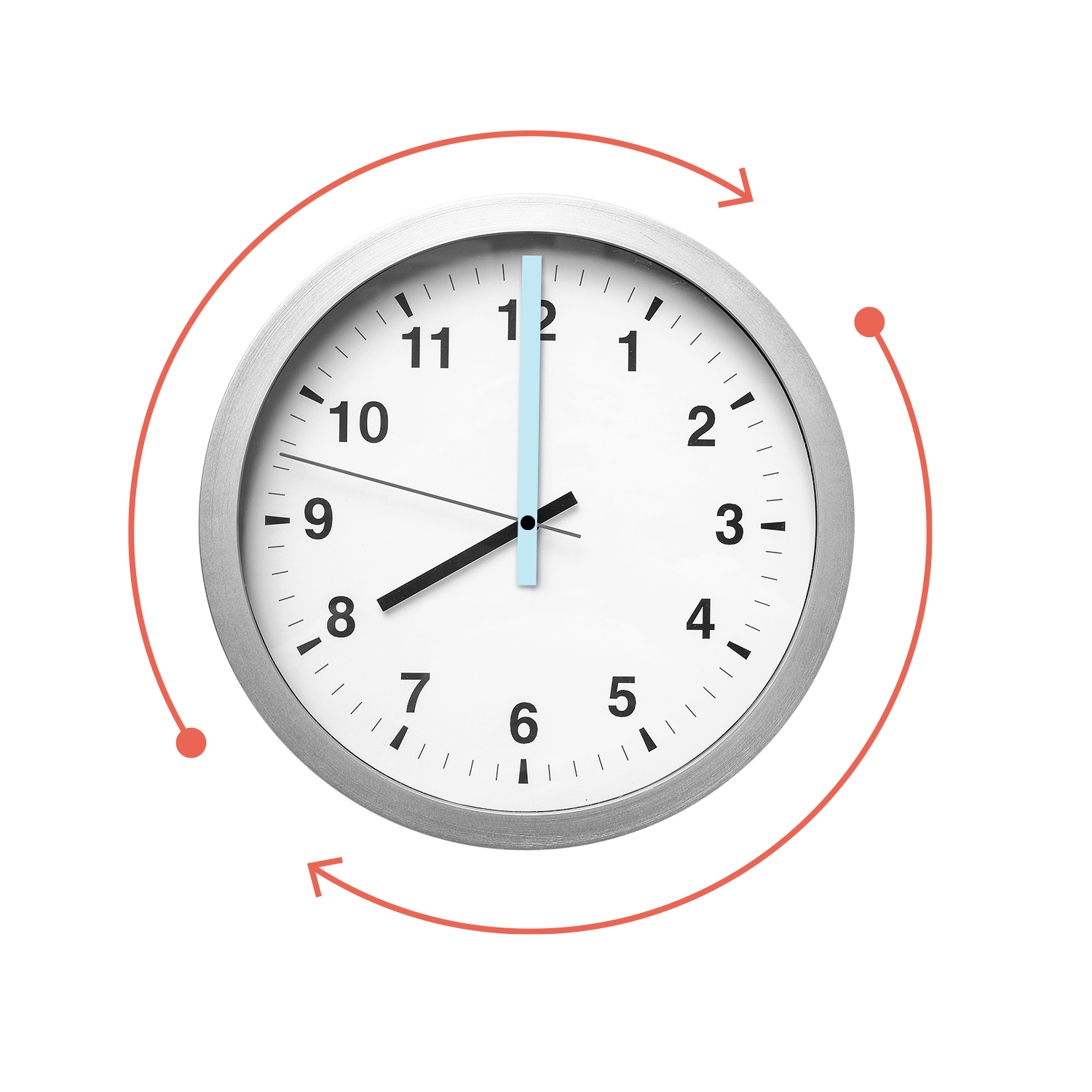 image clock saving time in reporting concept graphic