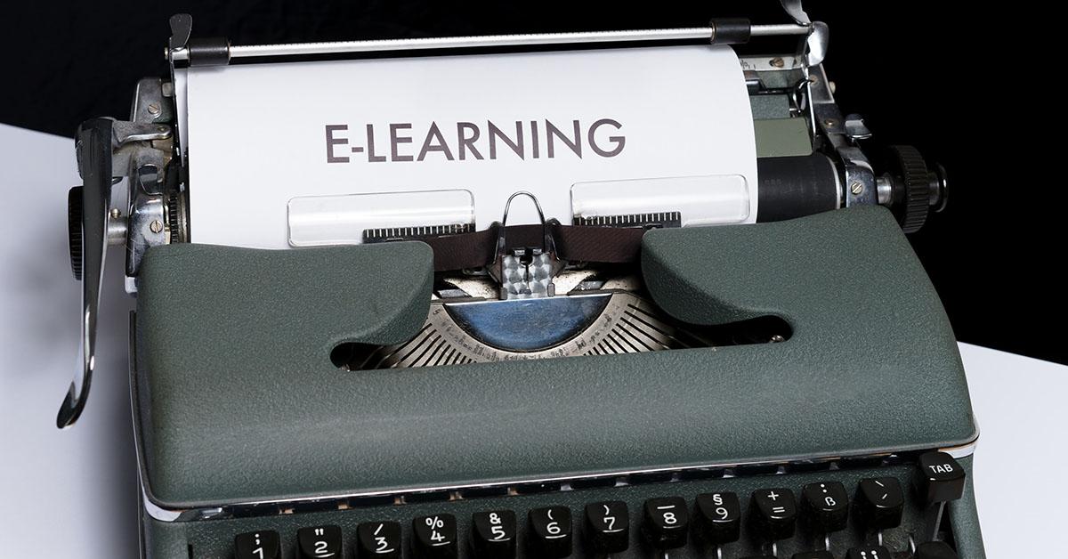 image header elearning typewriter
