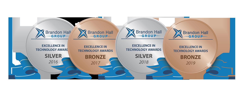 image lambda analytics has won Brandon Hall Awards from 2016 to 2019