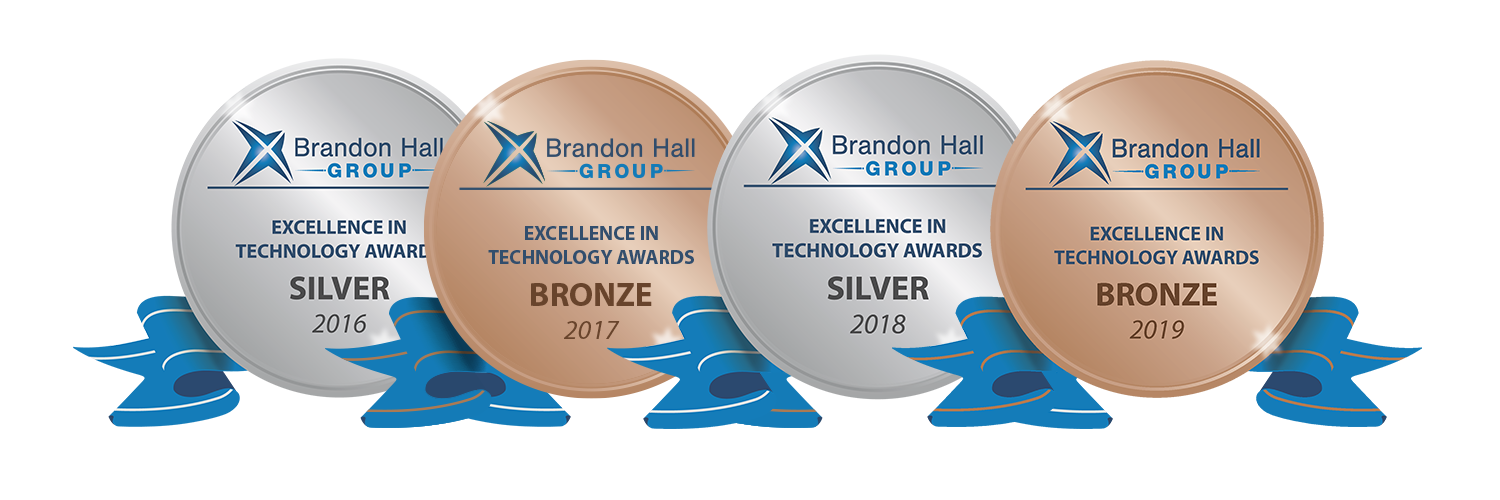 image logos brandon hall awards excellence in technology from 2016 to 2019