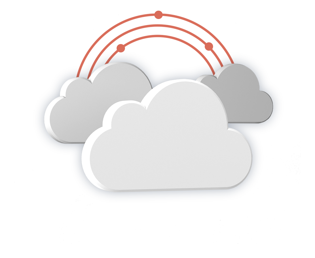image cloud hosting concept graphic